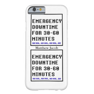 Onomatopoeia word tick tock thinking downtime barely there iPhone 6 case