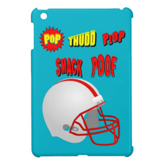 Onomatopoeia words pop, smack, thinking football iPad mini case