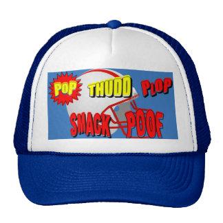 Onomatopoeia words POP,THUDD... thinking football Trucker Hat