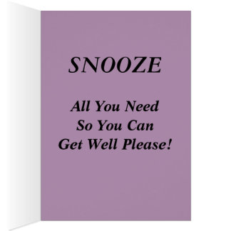 Onomatopoeia zzZZ sleepy, relaxation thinking Card
