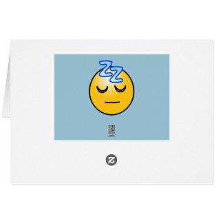 Onomatopoeia zzZZ sleepy, relaxation thinking Greeting Card
