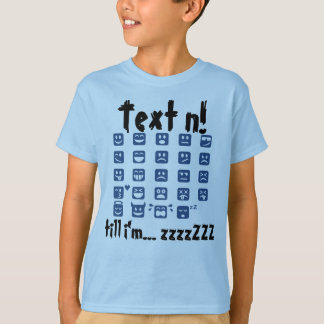Onomatopoeia zzzZZ sleepy and other emoticons T-Shirt