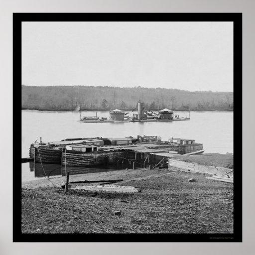 Onondaga en James River, VA 1864 de USS Posters