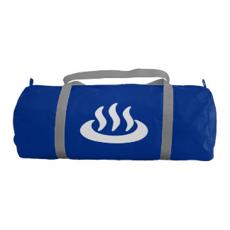 Onsen ♨ Hot Spring 温泉 Japanese Sign Duffle Bag