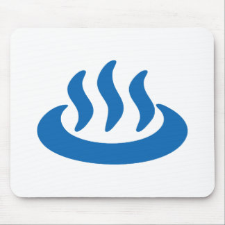 Onsen ♨ Hot Spring 温泉 Japanese Sign Mouse Pad