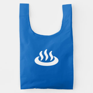 Onsen ♨ Hot Spring 温泉 Japanese Sign Reusable Bag