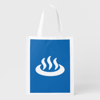 Onsen ♨ Hot Spring 温泉 Japanese Sign Reusable Grocery Bag