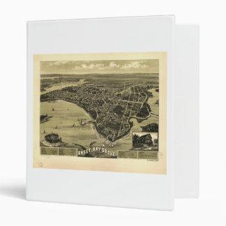 Onset Bay Grove Wareham Massachusetts Map (1885) 3 Ring Binder