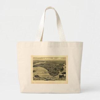 Onset Bay Grove Wareham Massachusetts Map (1885) Tote Bags