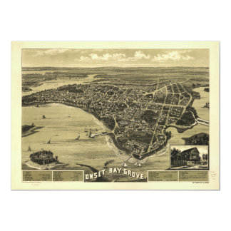 Onset Bay Grove Wareham Massachusetts Map (1885) Card