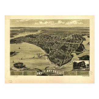 Onset Bay Grove Wareham Massachusetts Map (1885) Postcard