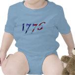 Onsie del bebé de 1776 estrellas y de las rayas trajes de bebé