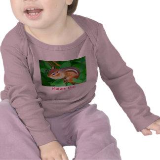 Onsie del Chipmunk, chica de la naturaleza Camiseta