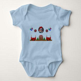 Onsie del niño de la capa del navidad mameluco de bebé