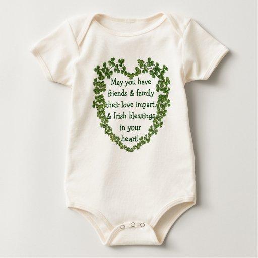Onsie irlandés del niño del corazón de la body para bebé
