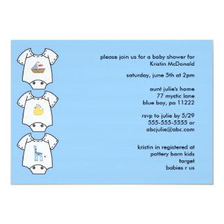 Onsies Boy Baby Shower Invitations 5x7