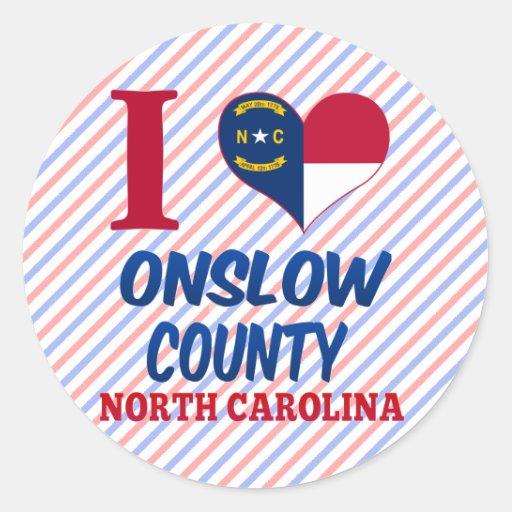 Onslow County, North Carolina Classic Round Sticker