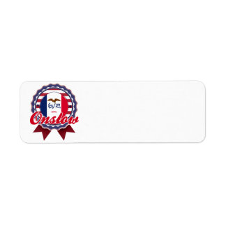 Onslow, IA Custom Return Address Labels