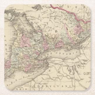 Ontario 2 square paper coaster