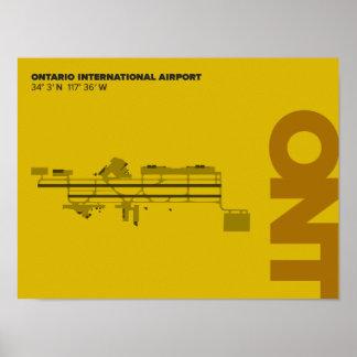 Ontario Airport (ONT) Diagram Poster