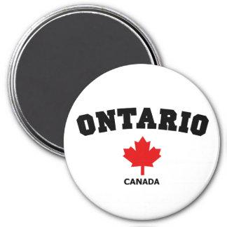 Ontario Block 3 Inch Round Magnet