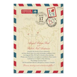 Ontario Canada & Belgium Vintage Airmail Wedding Card