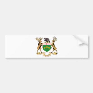 Ontario (Canada) Coat of Arms Car Bumper Sticker