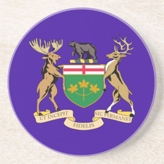 Ontario (Canada) Coat of Arms Beverage Coasters