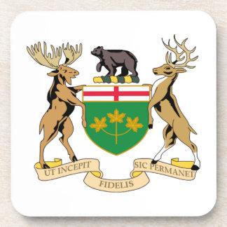 Ontario (Canada) Coat of Arms Drink Coasters