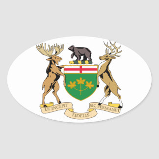 Ontario (Canada) Coat of Arms Oval Sticker