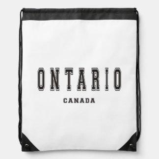 Ontario Canada Drawstring Bag