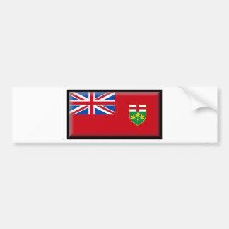 Ontario (Canada) Flag Car Bumper Sticker