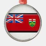 Ontario (Canada) Flag Christmas Ornaments