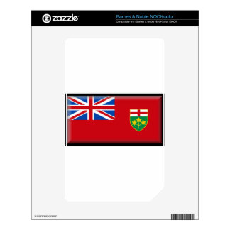 Ontario (Canada) Flag Decal For The NOOK Color