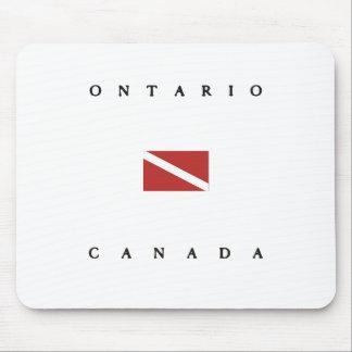 Ontario Canada Scuba Dive Flag Mouse Pad