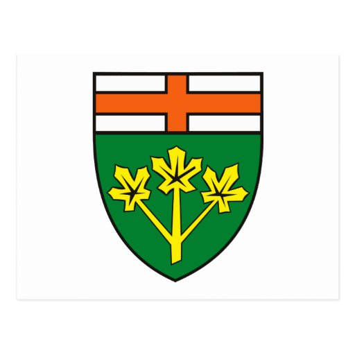 Ontario Coat of Arms (province) Postcard | Zazzle