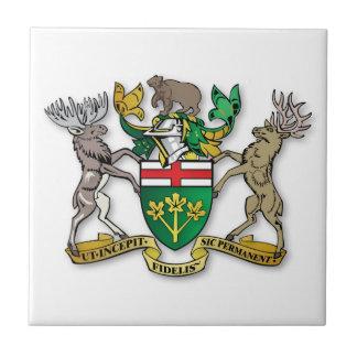 Ontario coat of arms ceramic tile