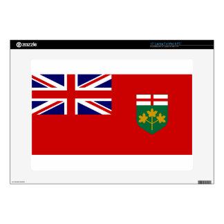 "Ontario Flag 15"" Laptop Decal"