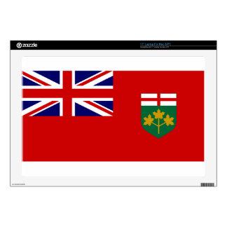 "Ontario Flag 17"" Laptop Decal"