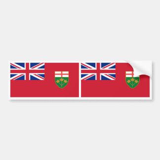 Ontario Flag Bumper Sticker