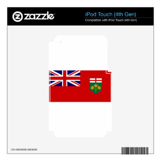 Ontario Flag Decals For iPod Touch 4G