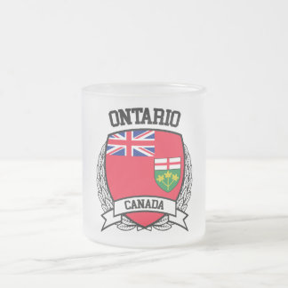 Ontario Frosted Glass Coffee Mug