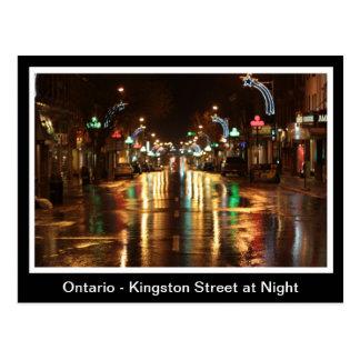 Ontario, Kingston Street at Night Postcard