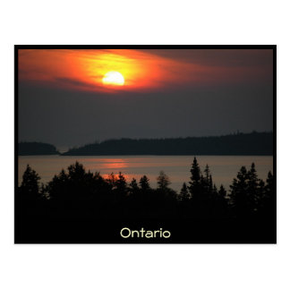 Ontario - Lake Superior Sunset - Postcard