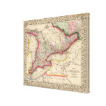 Ontario Map by Mitchell Canvas Print