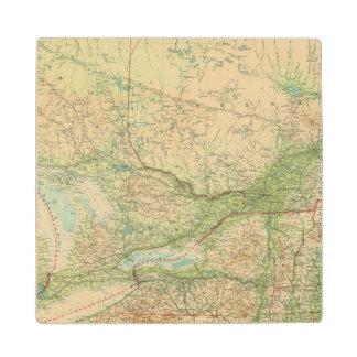 Ontario & Quebec Wood Coaster