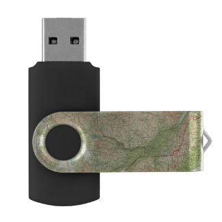 Ontario & Quebec Swivel USB 2.0 Flash Drive