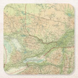Ontario & Quebec Square Paper Coaster