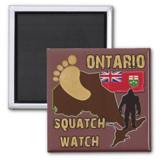 Ontario Squatch Watch 2 Inch Square Magnet