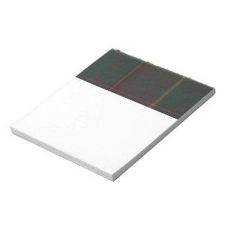 Ontario Tartan Notepad